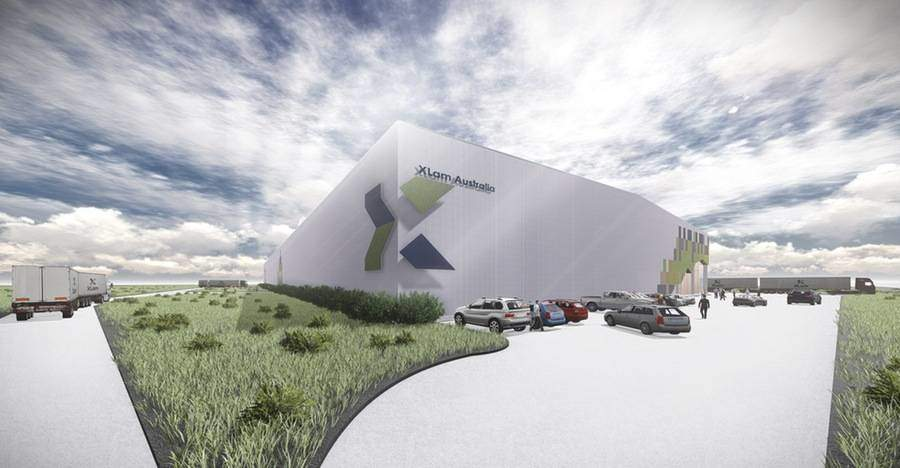 A computer generated image of design for XLam Australia's Wodonga plant, which will produce Australian made CLT