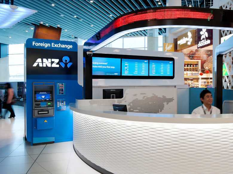 An ANZ Foreign Exchange booth