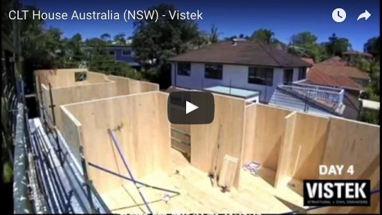 Timelapse of Australian CLT house under construction in NSW