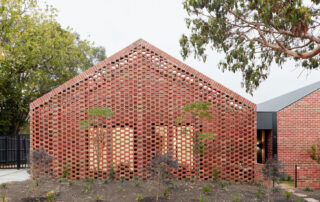 Bardolph Gardens residences with perforated brick wall facade