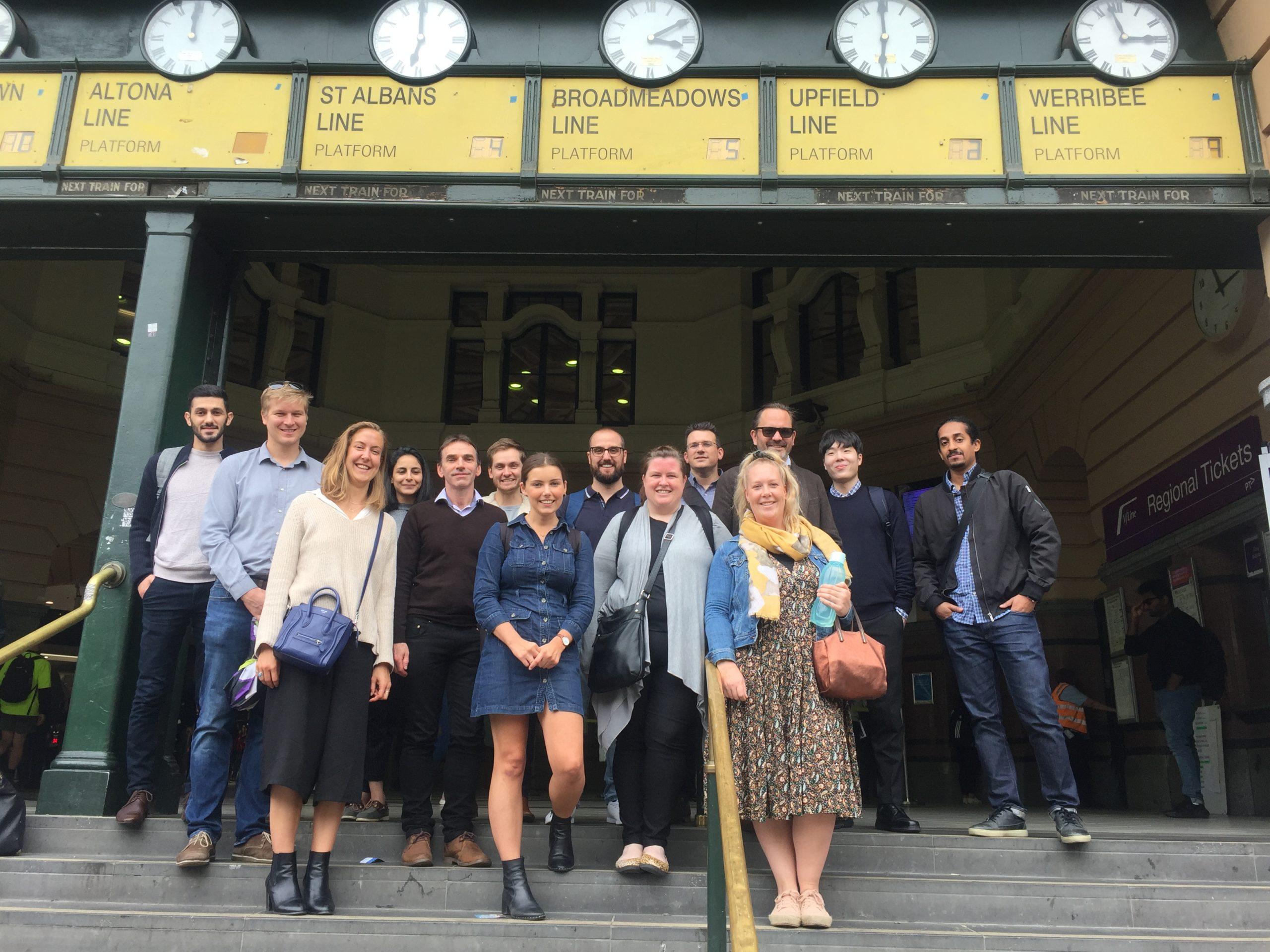 The Vistek team at Flinders St Station on World Engineers Day