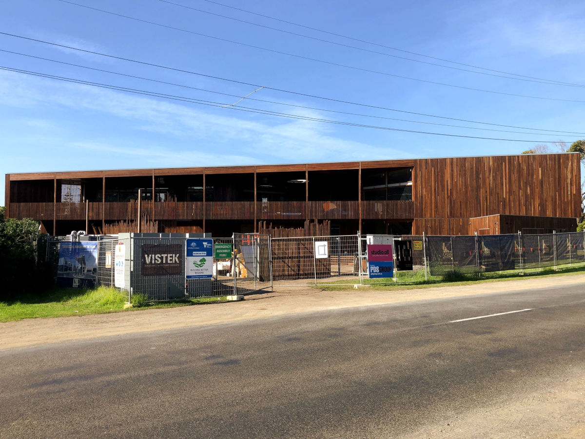 Timber-clad lifesaving club building