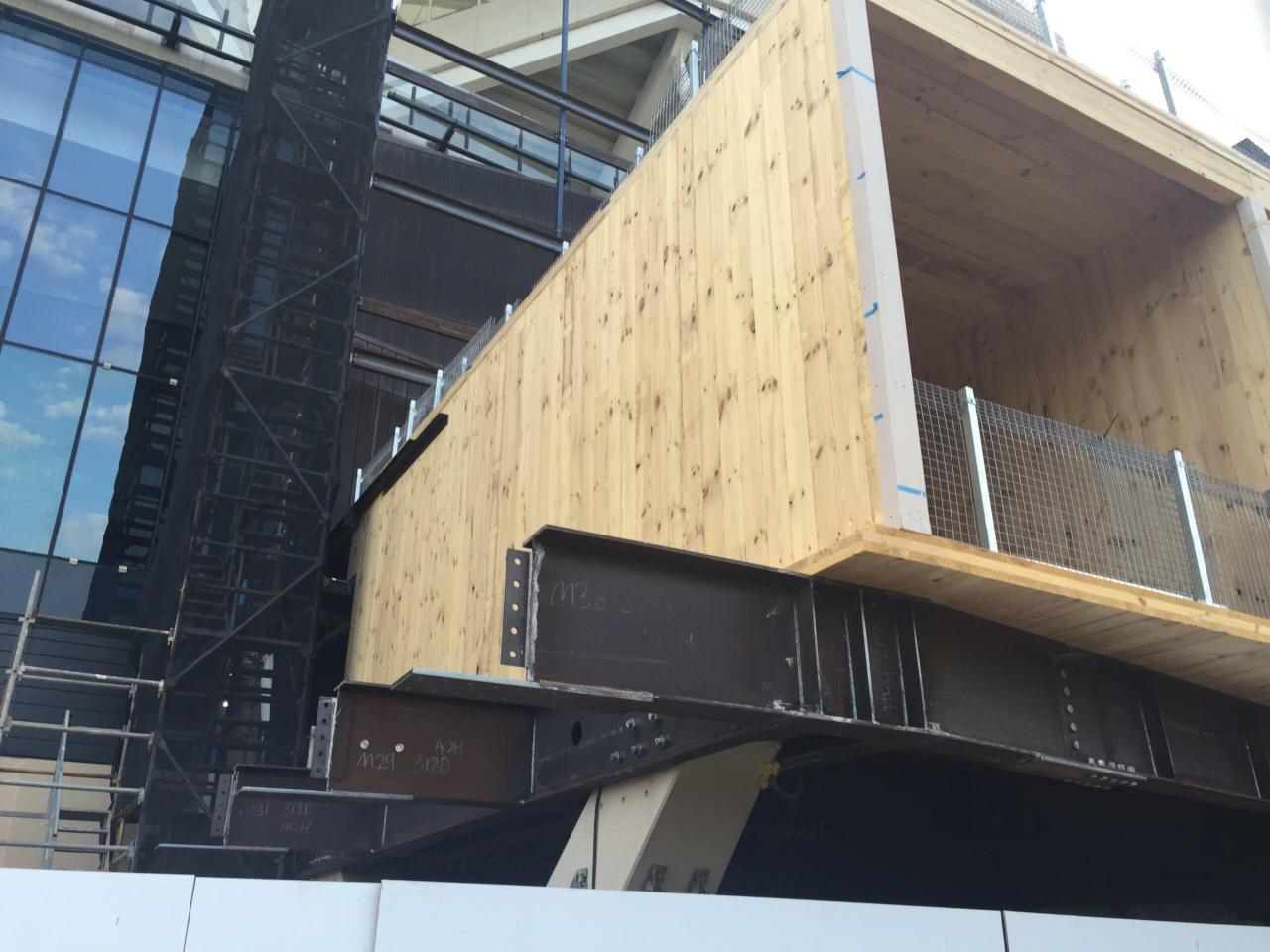 CLT structure under construction