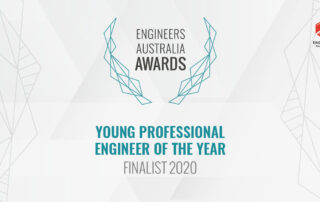 Engineers Australia Awards Young Professional Engineer of the Year Finalist 2020